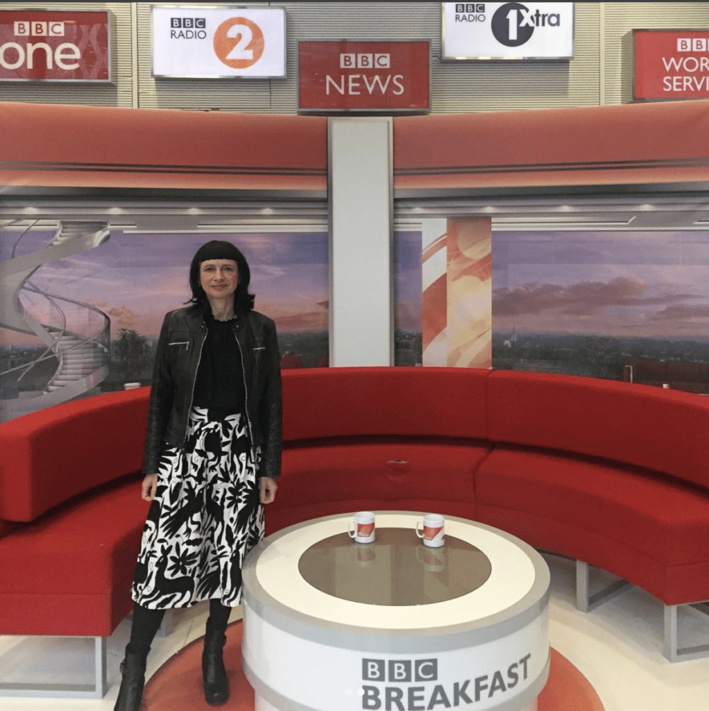 Carry Somers on BBC Breakfast Discussing Fast Fashion Pachacuti