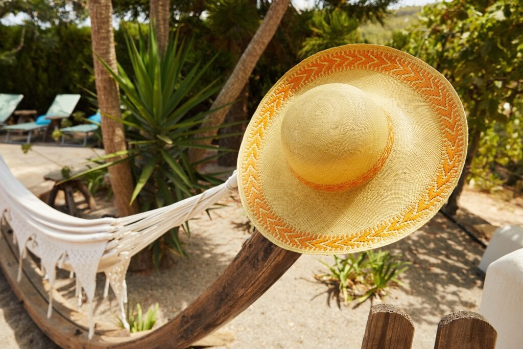 Handwoven, customer design, exotic sun hat