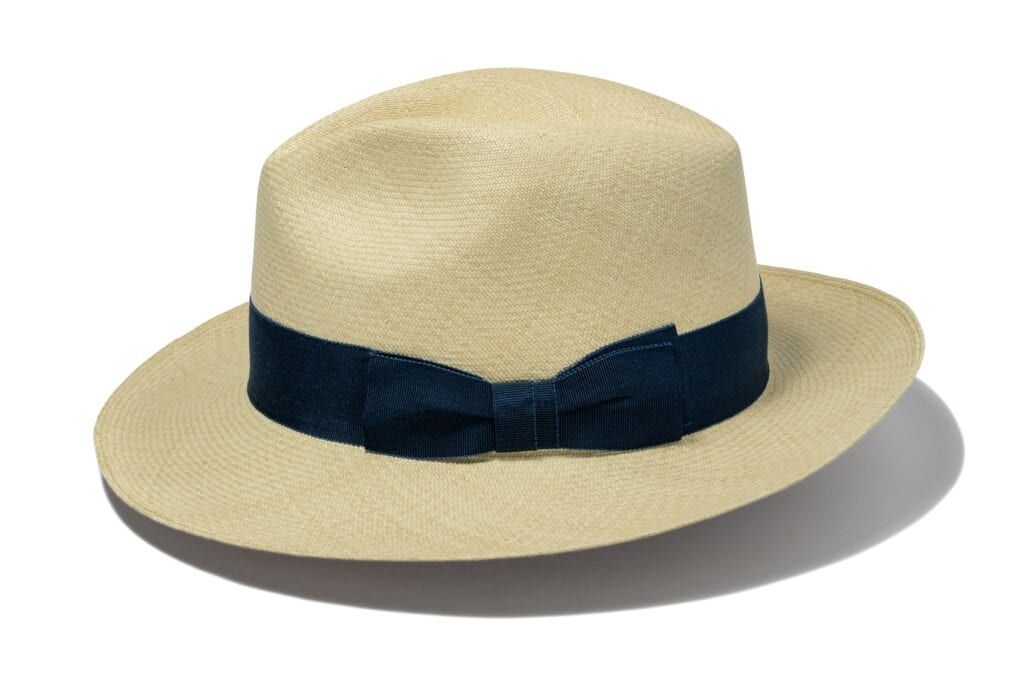 male_straw_fedora_handmade_with_a_fine_herringbone_weave_in_ecaudor