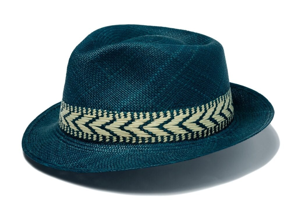 Men's_blue_aztec_inspired_trilby_style_hat