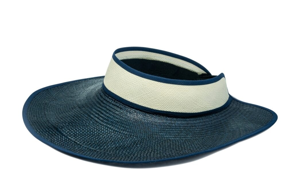 Women's_navy_visor_panama_hat