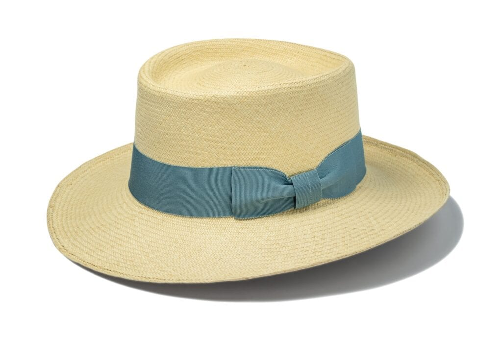 Hampstead_planter_with_blue_bow_summer_straw_hat_for_any_occasion