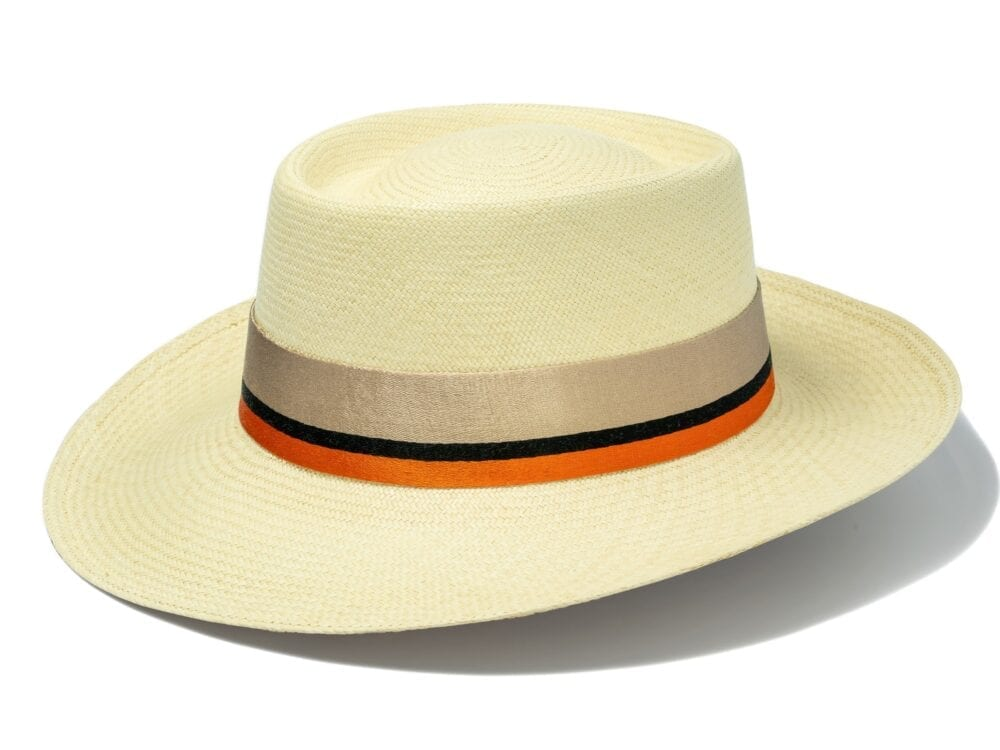 Women's_elegant_panama_with_orange_striped_ribbon