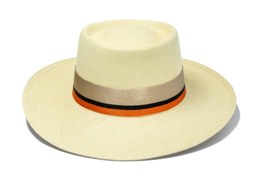 Women's_orange_straw_panama_hat