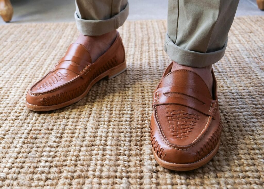 A classic penny loafer