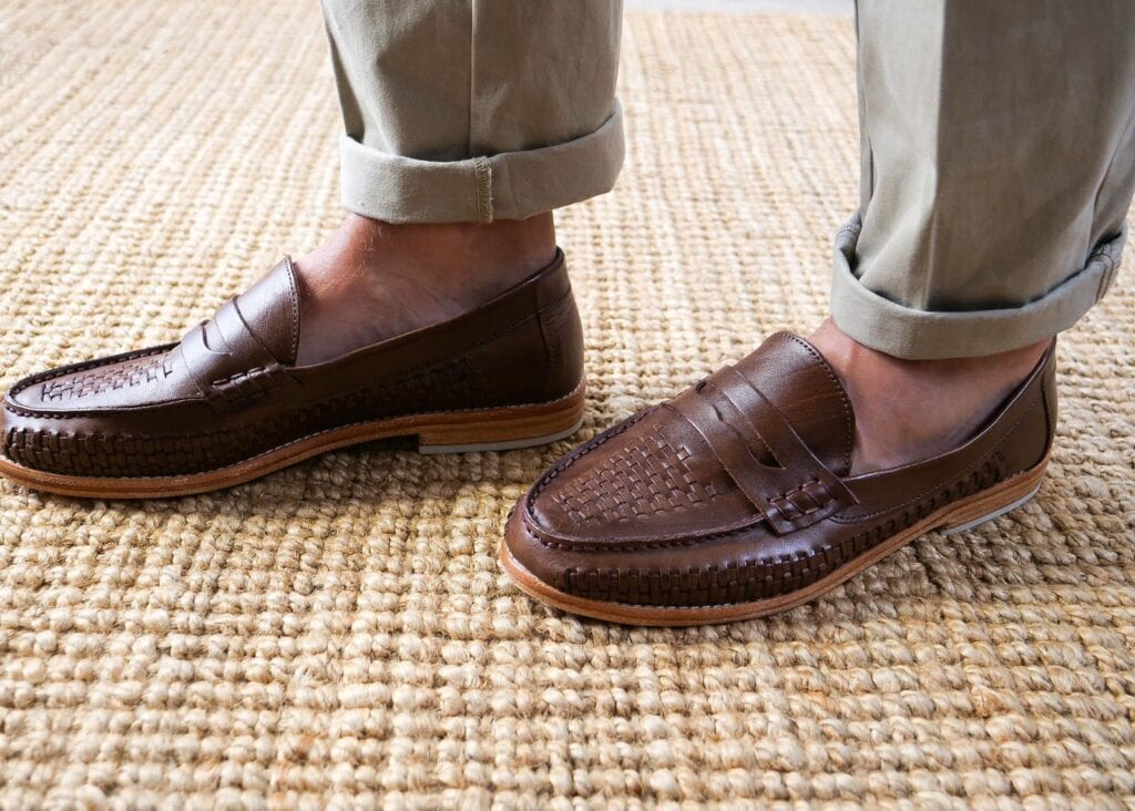 Dark brown slip on men's loafer