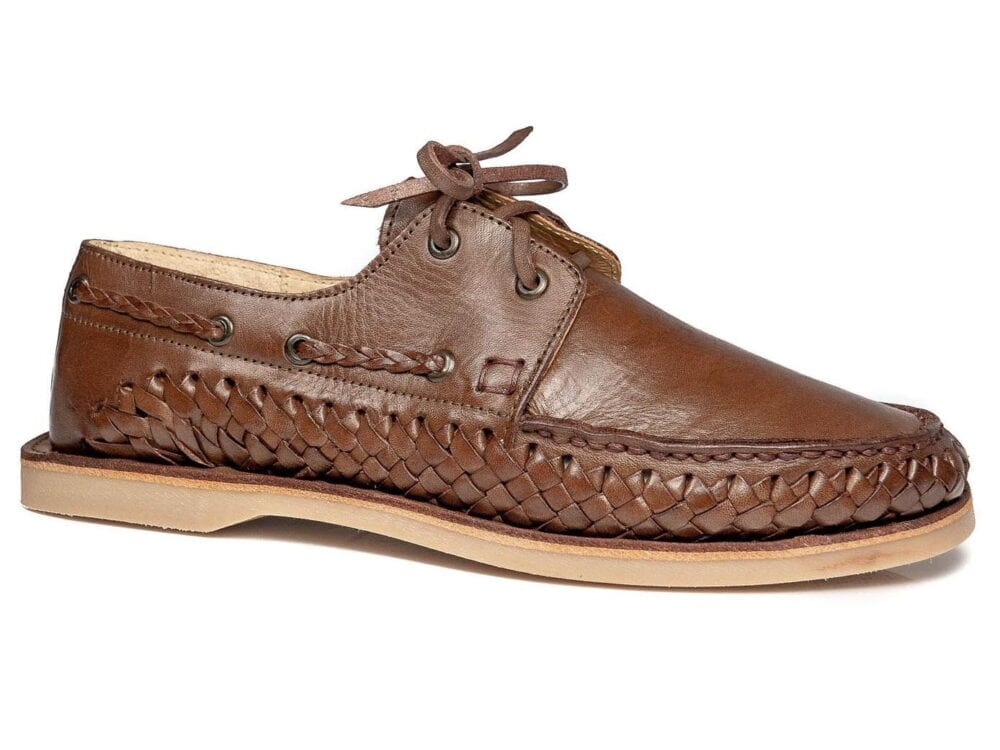 Braided Boat Shoe Walnut
