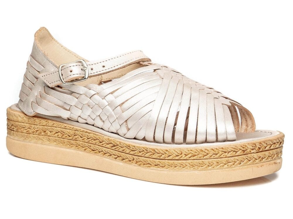 Chloe Raised Sandals Pearl