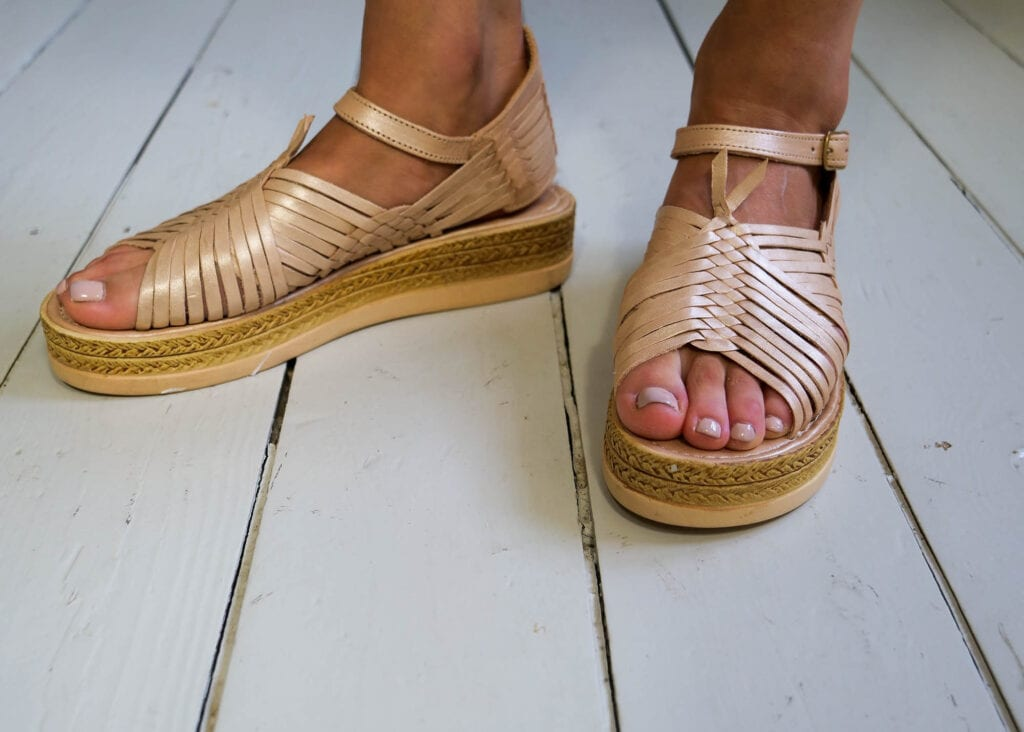 Chloe Raised Sandals Rose Gold