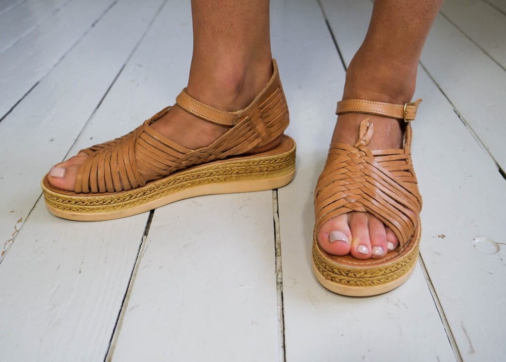 Chloe Raised Sandals Tan