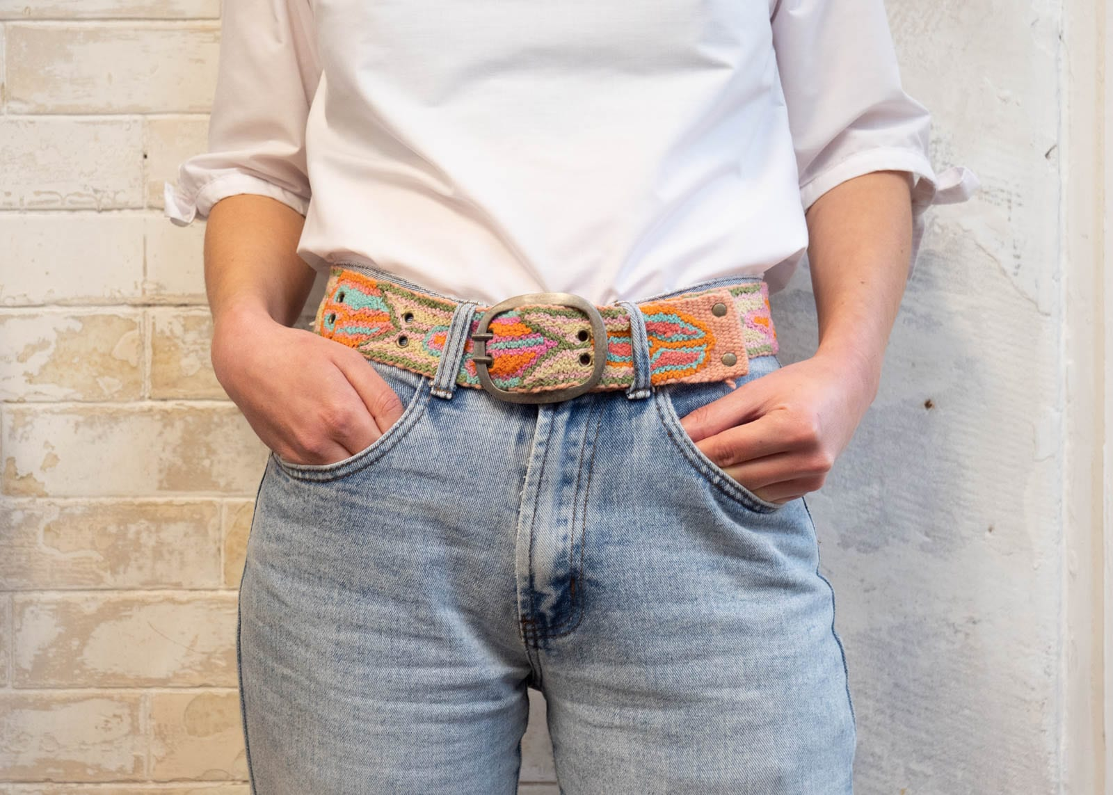 Garden Party Embroidered Belt