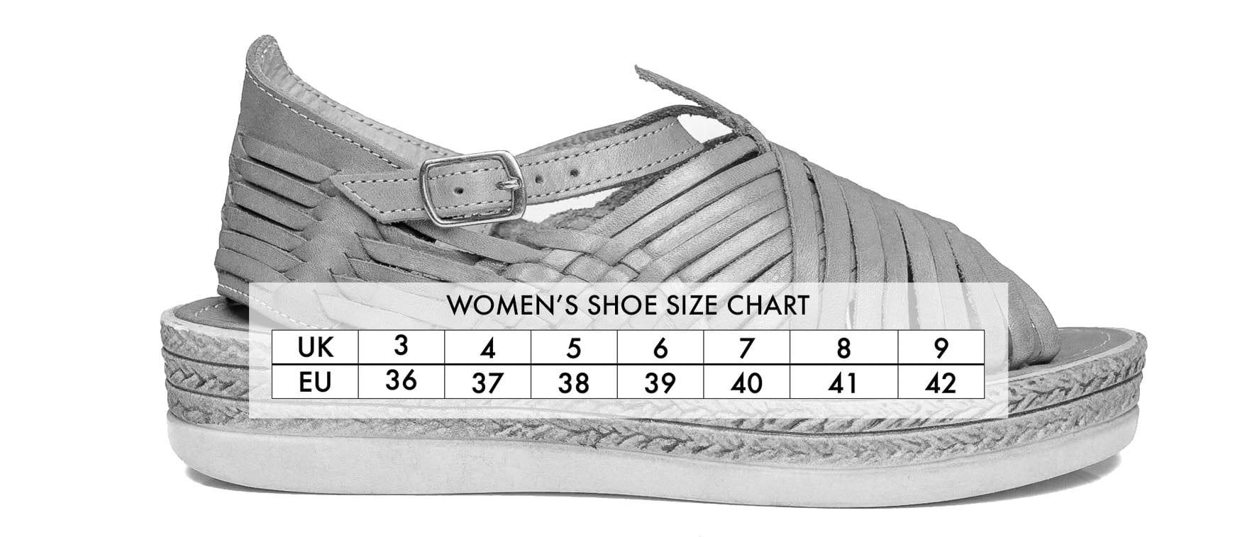 Shoe Size Guide Pachacuti